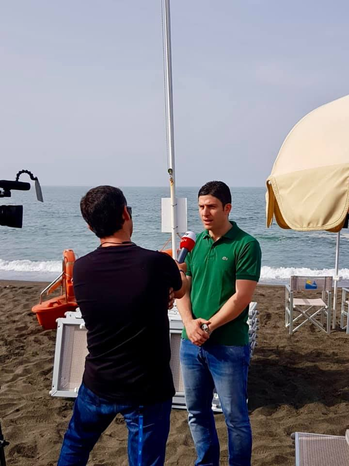 Smoking free beach, le telecamere Sky in città