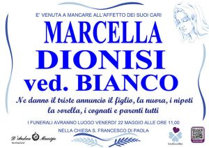 MARCELLA DIONISI ved. BIANCO